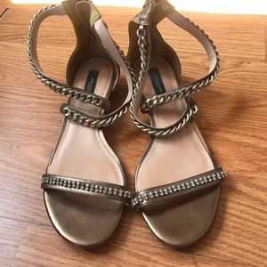Ann Taylor Bronze Wedges